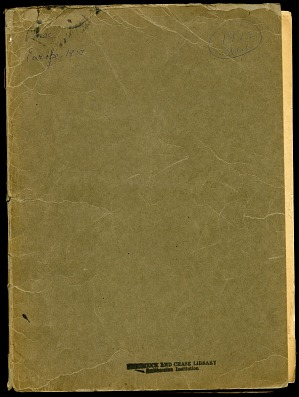 Mary Agnes Chase notes, 1922 trip, 1922, Smithsonian Field Book Project, SIA RU000229.