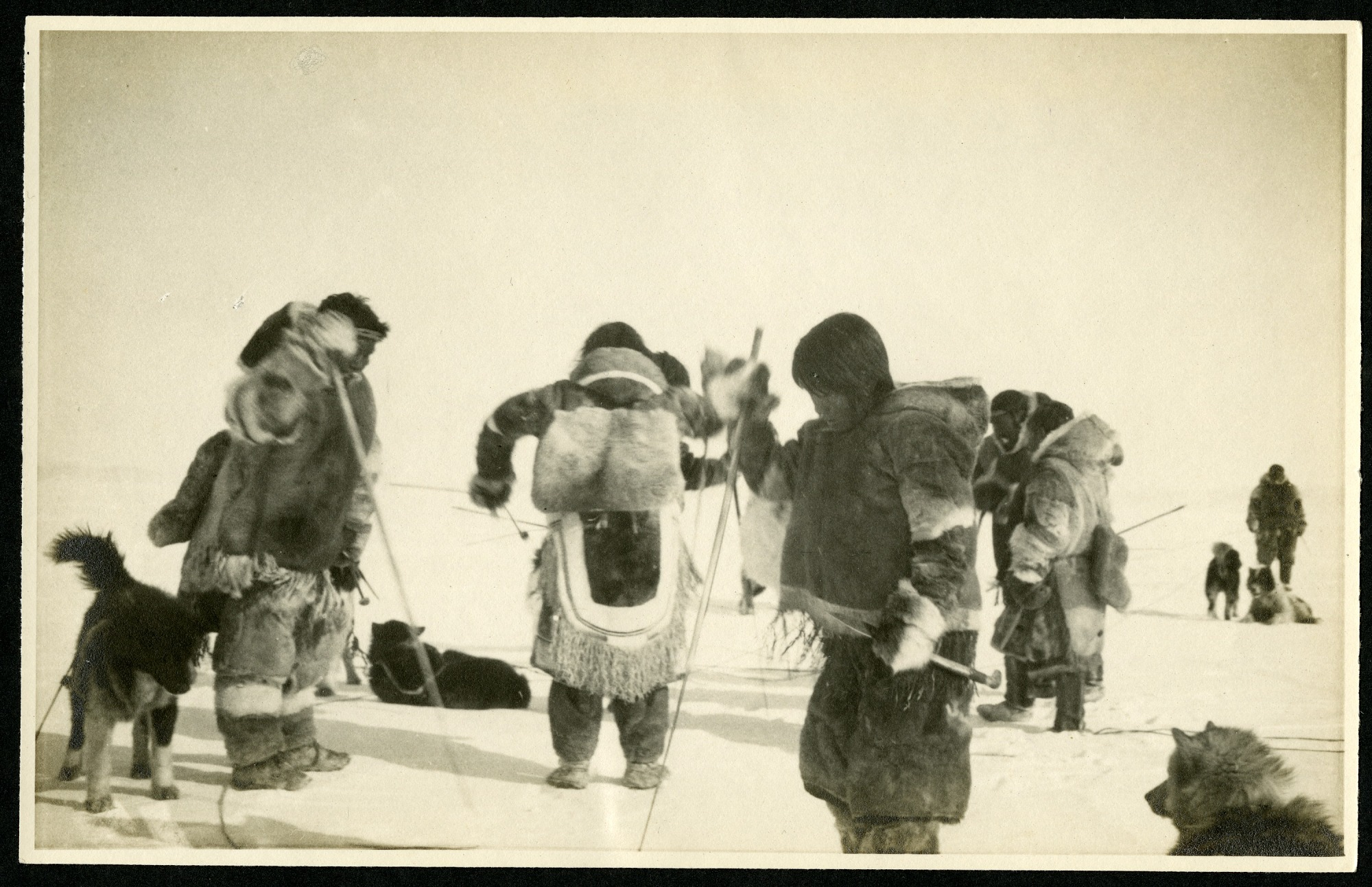 Group of Eskimos on the ice, 1924, Smithsonian Institution Archives, SIA RU007091 [SIA2015-006842].