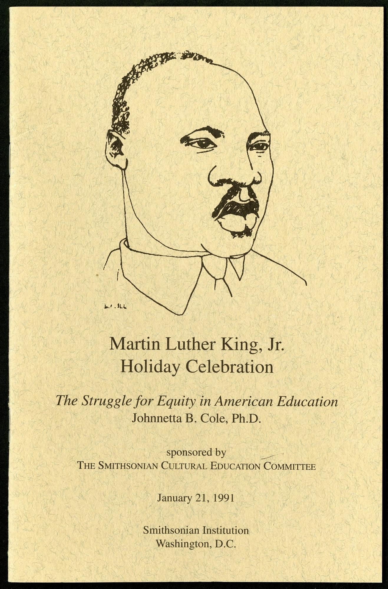 King Holiday Celebration Program, 01/21/1991