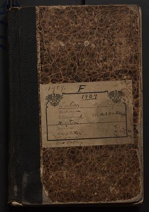 Field notes, Iowa, 1909 (F), 1909, Smithsonian Field Book Project, SIA RU007082.
