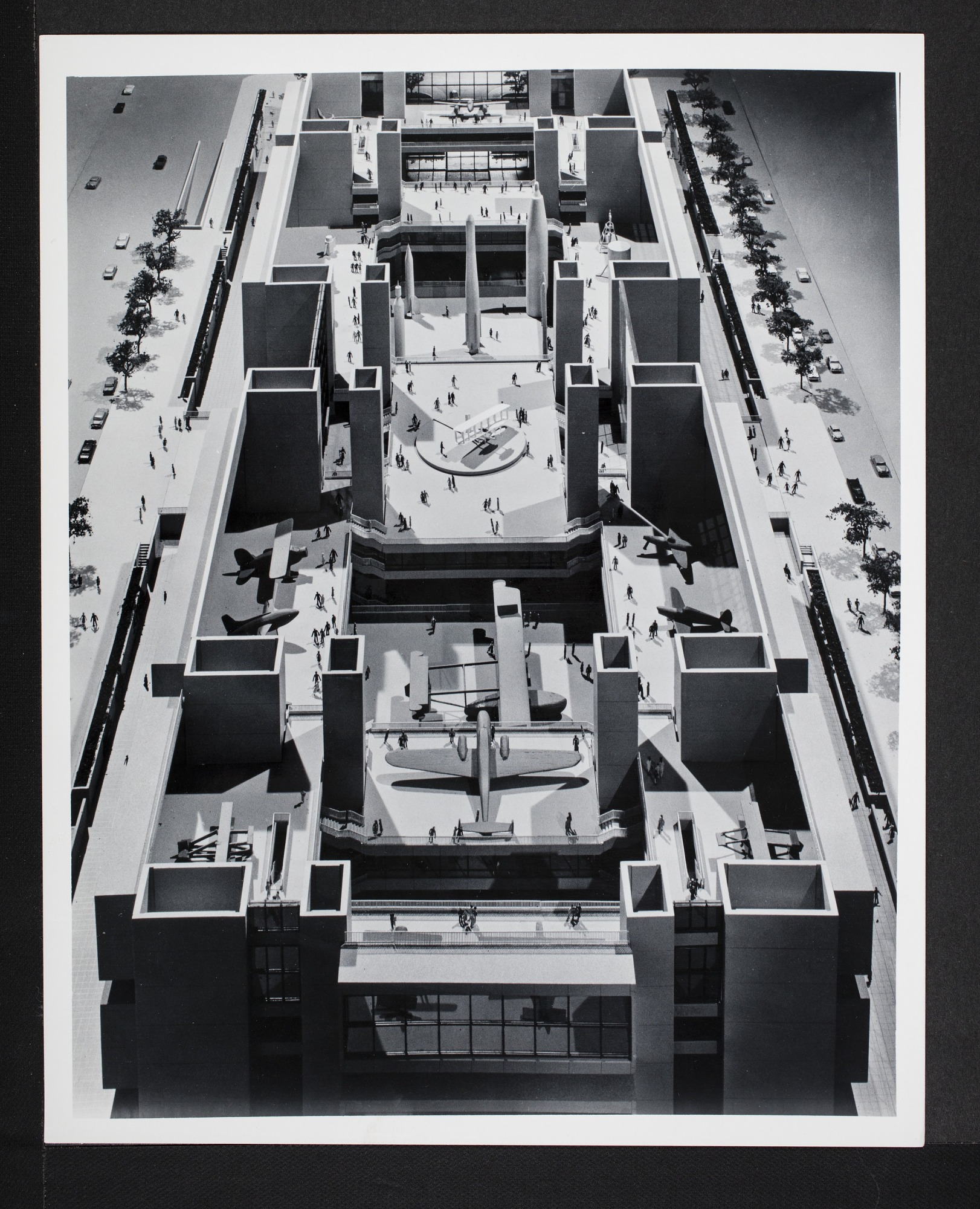 Concept Model of Interior for the New National Air Museum