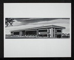 Concept Model of Exterior and West End for the National Air Museum Building