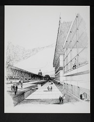 Concept Drawing of Exterior for National Air Museum