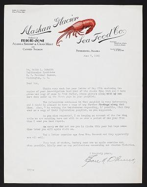 Alaska King Crab Investigation, 1940 : correspondence N-Z