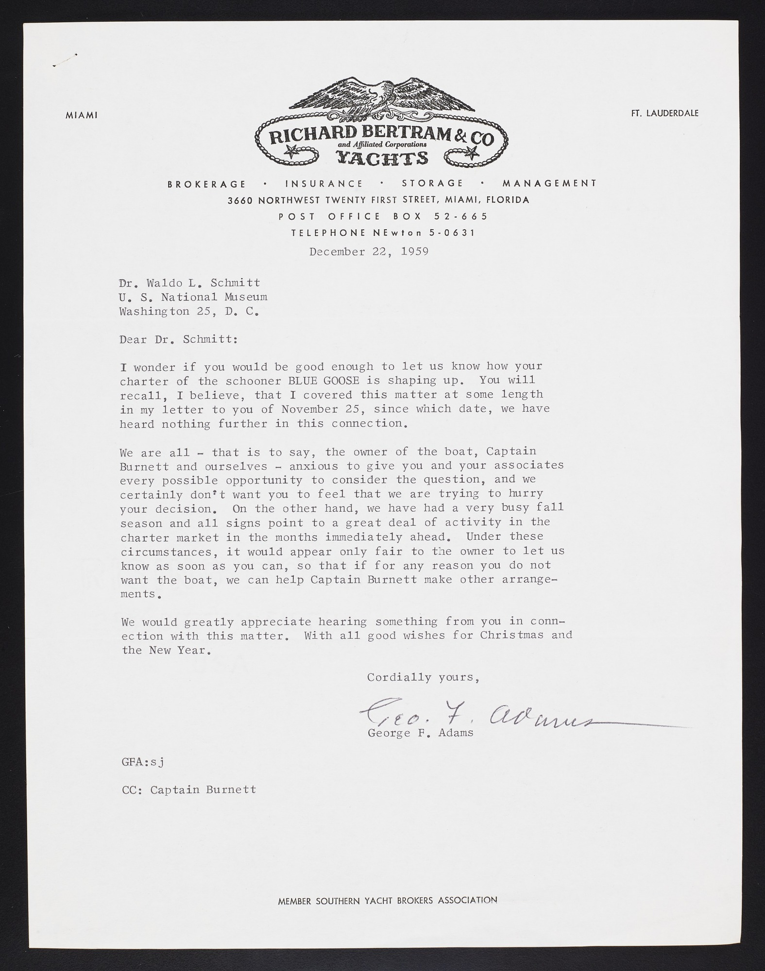 Smithsonian-Bredin Caribbean Expedition, 1960 : correspondence (1 of 2)