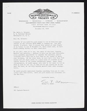 Smithsonian-Bredin Caribbean Expedition, 1960 : correspondence (1 of 2)
