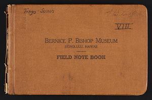 VIII. Tonga, Samoa, 1928, 1928, Smithsonian Field Book Project, SIA Acc. 16-046.