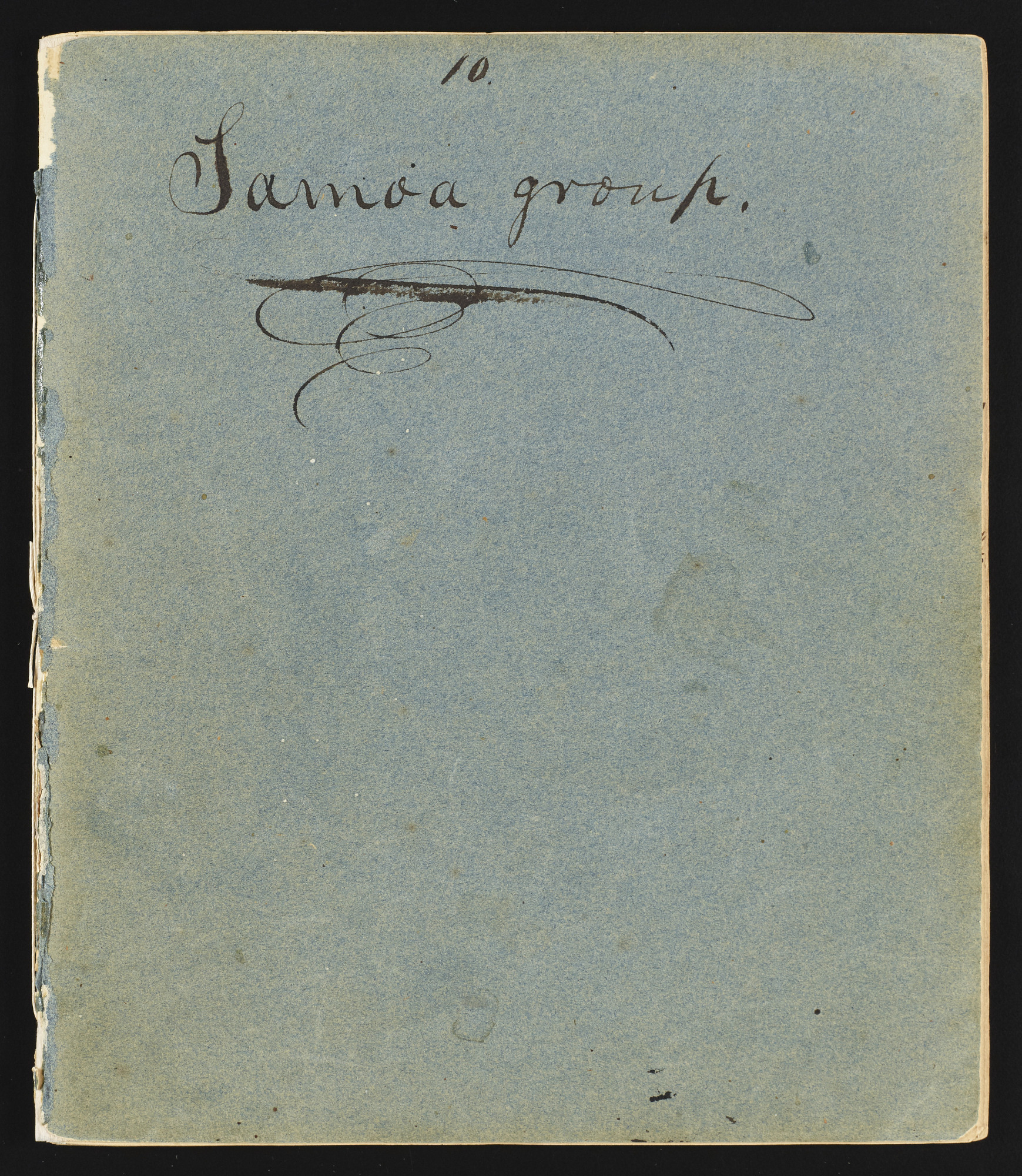 Original notebook of the botanist, volume 10, Samoa Islands group