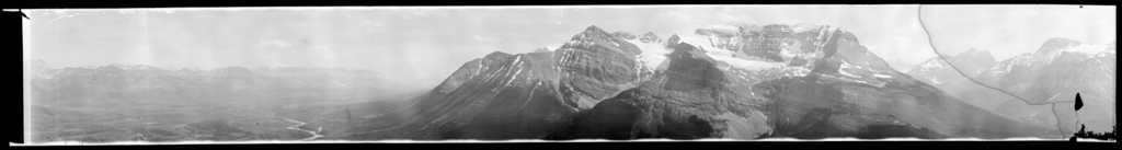 Bow Valley and Mountain Mass Northwest of Lake Louise