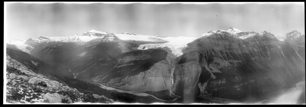Looking Across Yoho Valley toward Takakkaw Falls