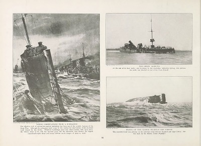 German submarine from Collier's photographic history of the European War.