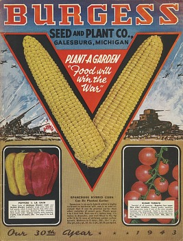 Burgess Seed and Plant Co., Seed catalog: Plant a Garden, 1943