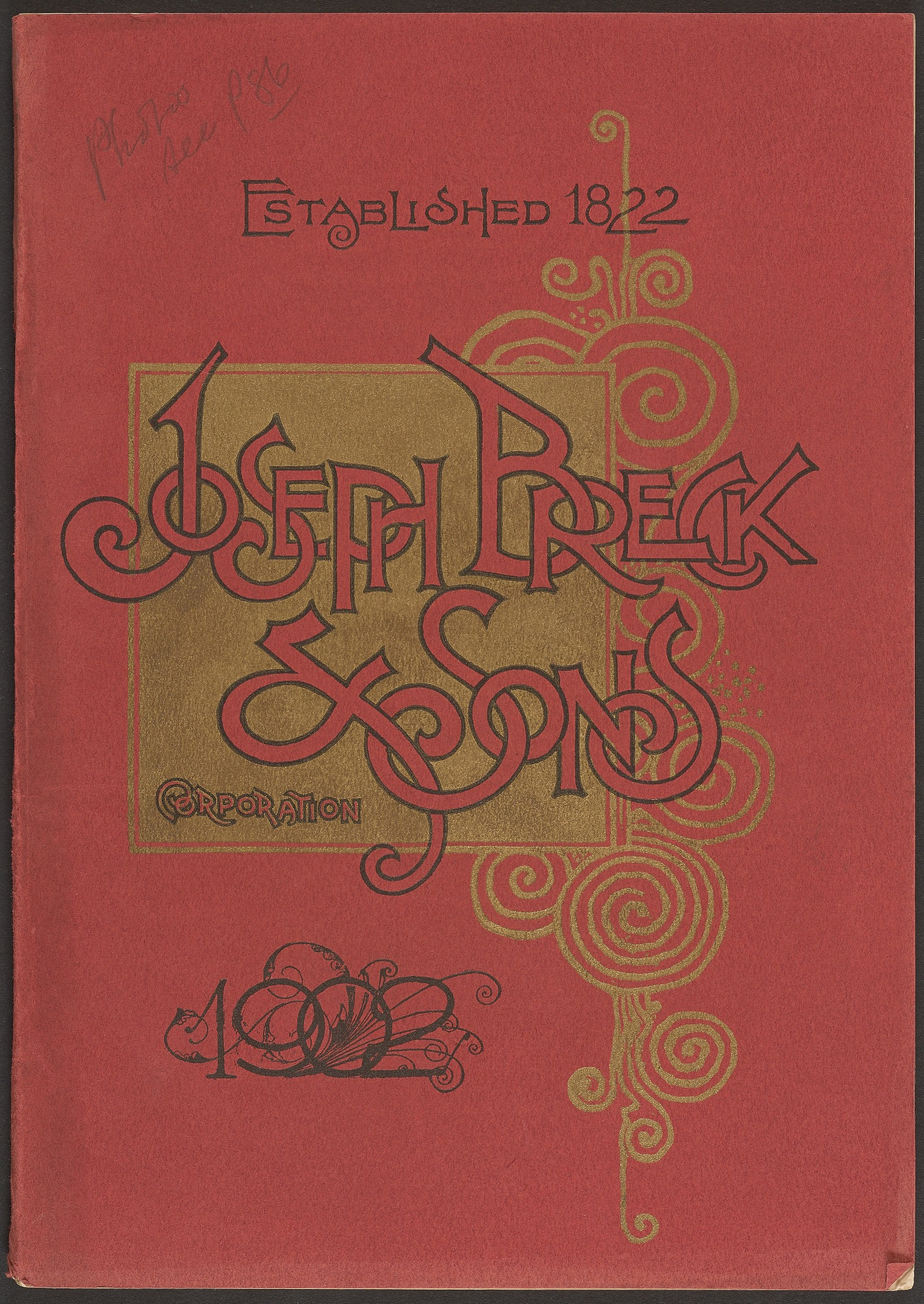 Joseph Breck & Sons Corporation, Seed catalog, 1902