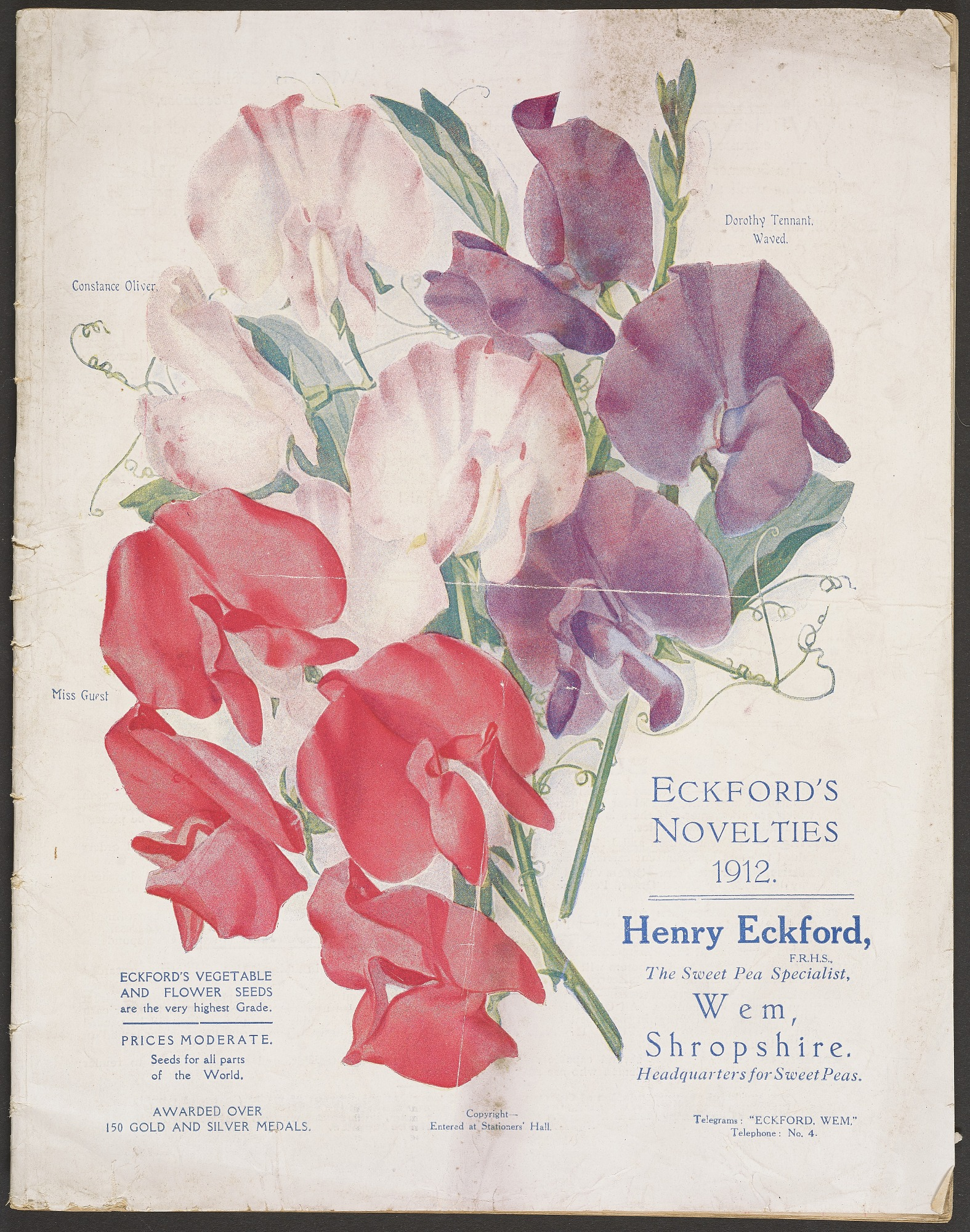 Henry Eckford, Eckford's Novelties for 1912