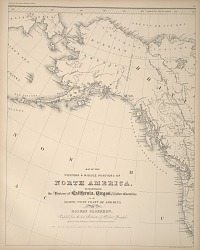 Map of the Western amd Middle Portions of North America from Alaskan boundary tribunal.
