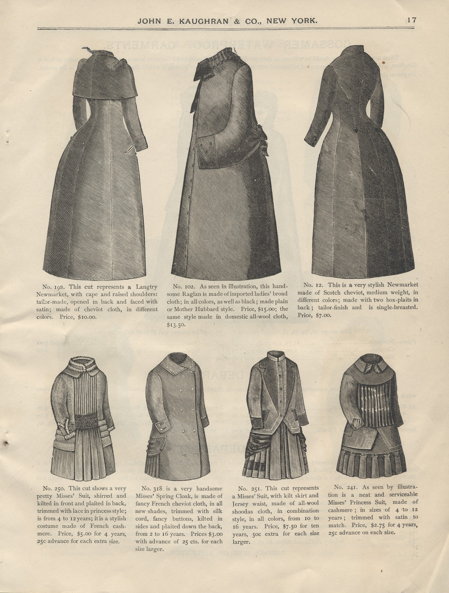 Ladies' suits and cloaks