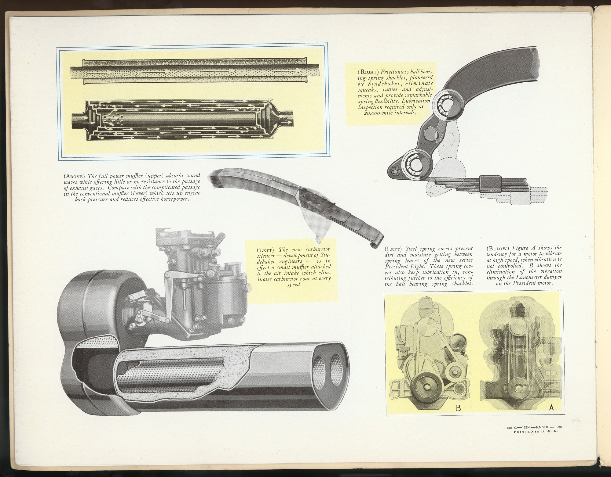 Mechanical Features Studebaker Engine Diagrams Text