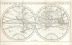 A Map of the World from A new voyage round the world.