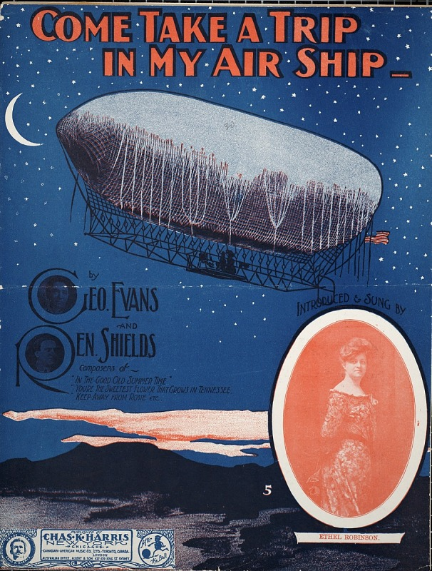 Image for Come, take a trip in my air ship / by Geo. Evans and Ren Shields