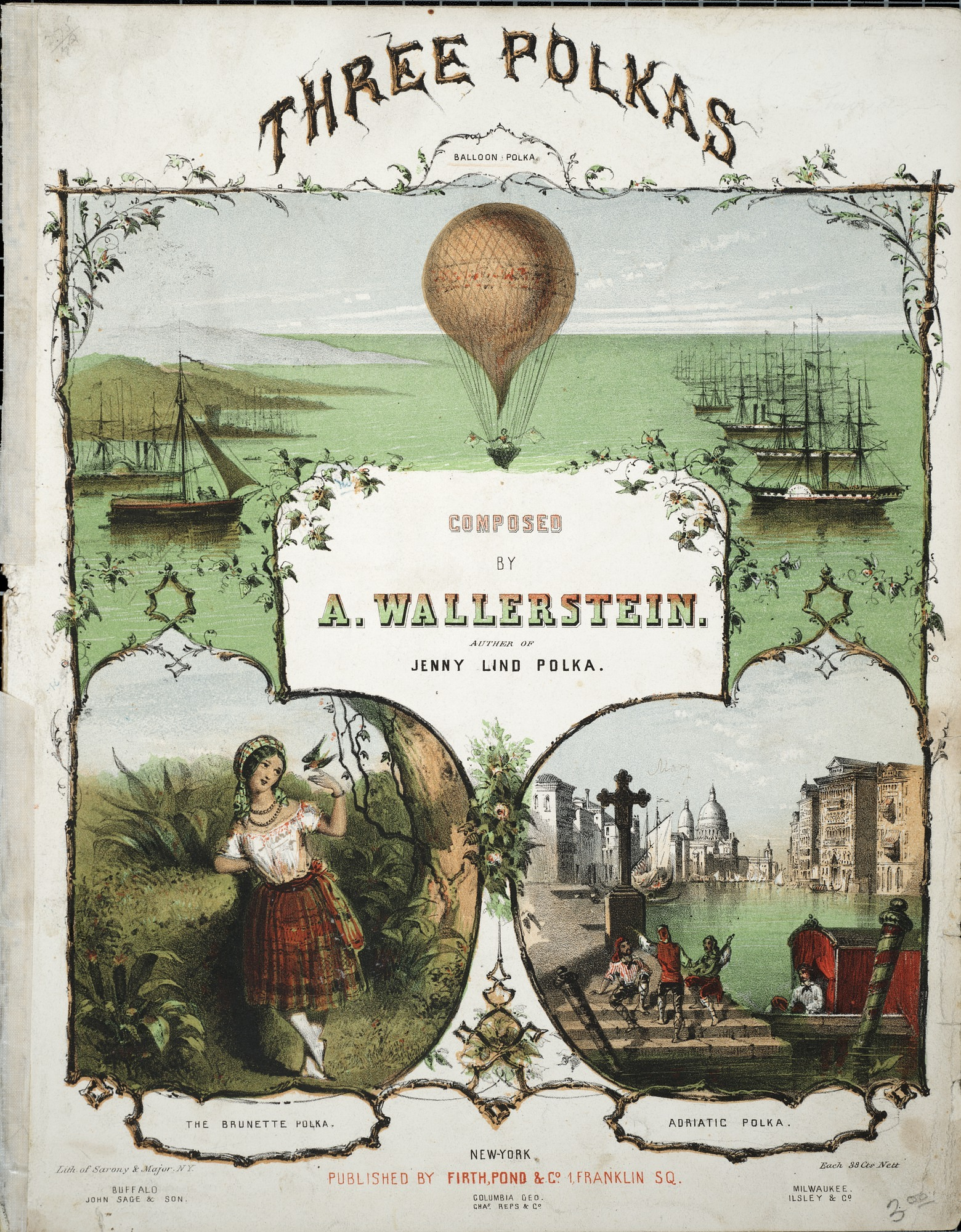images for The balloon polka = L'aëronaute / A. Wallerstein