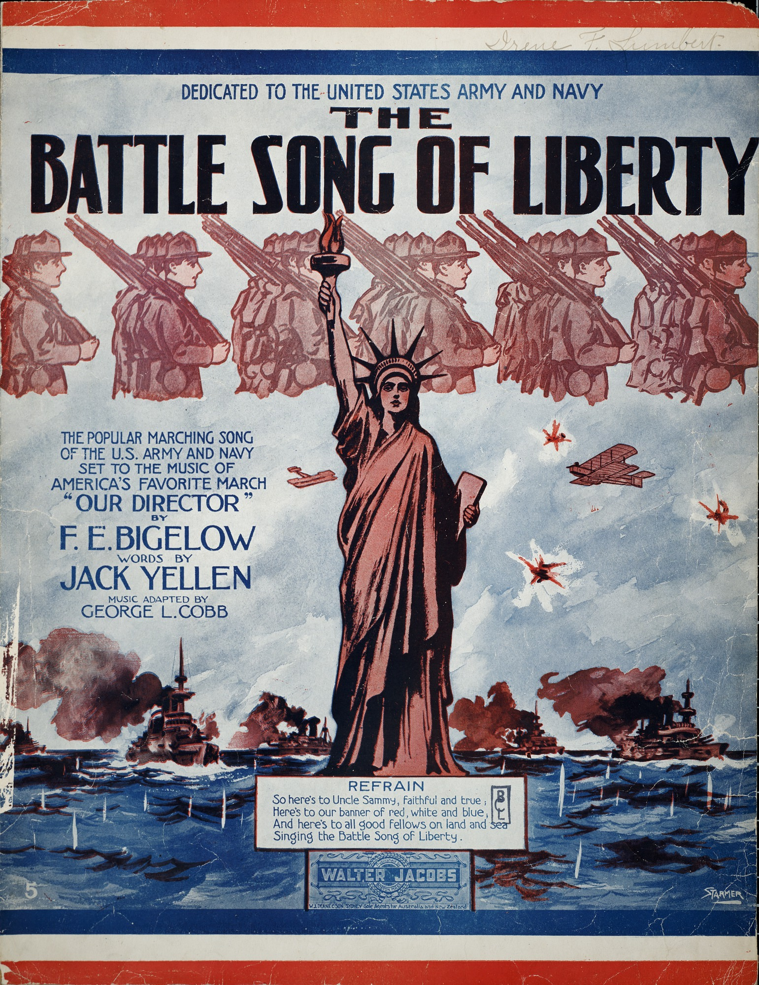 images for The battle song of liberty / words by Jack Yellen ; music adapted by George L. Cobb