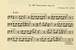 No.100. Stomp Dance Song from Bulletin -- Smithsonian Institution, Bureau of American Ethnology.
