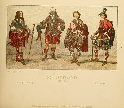 Scottish costumes from Geschichte des Kostüms.