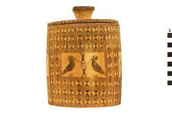 Carved Wooden Container and Lid