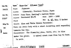 """""""Hane-Ike"""" Flower Vase"""