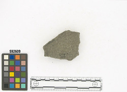 Ñaupe surface/top of mound - metate fragment