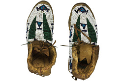 Pair of Beaded Moccasins