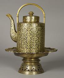 """Inlaid Teapot And Stand """"Kanam Rup Kabok"""""""