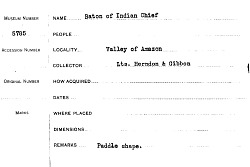 Baton Of Indian Chief