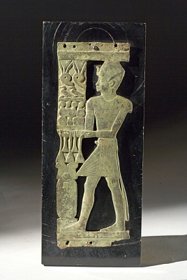 Bronze Plaque Portraying A King