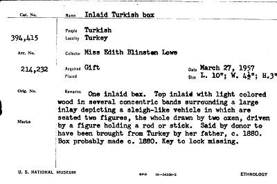 Inlaid Turkish Box