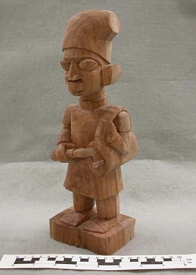 Unfinished Figure -- Stage 3 in Woodcarving Process