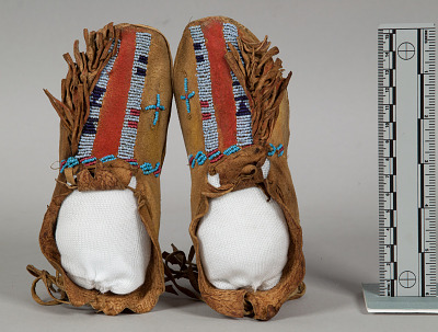 Child's Beaded/Painted Moccasins (Pair)