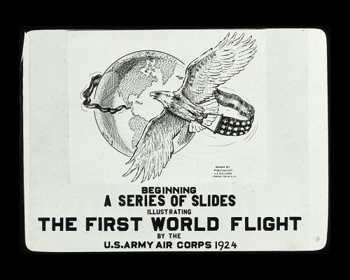 1924 World Flight Glass Slide Collection