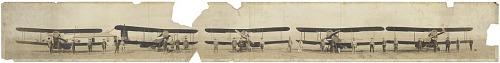 Bellanca de Havilland DH-4 Mailplane Modified and Crew Panoramic Photograph