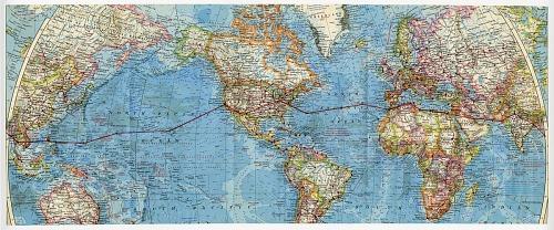 "Geraldine L. ""Jerrie"" Mock Route Map"
