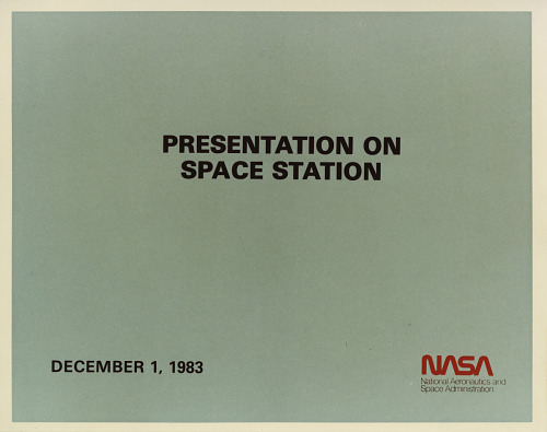 National Aeronautics and Space Administration (NASA) Space Station Freedom Viewgraph Presentation