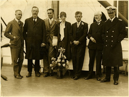 "Photograph of Fokker F.VIIB-3m ""Friendship"" Crew"