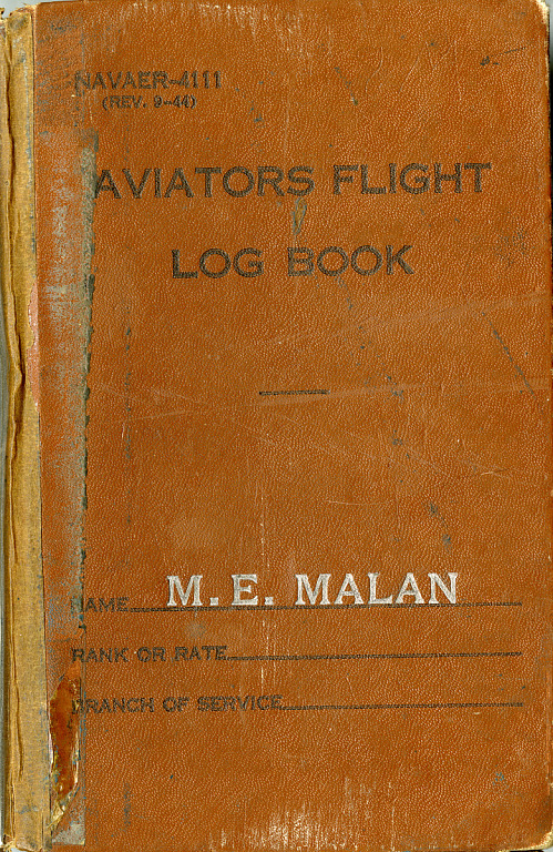 Captain Max E. Malan USN Pilot Logs