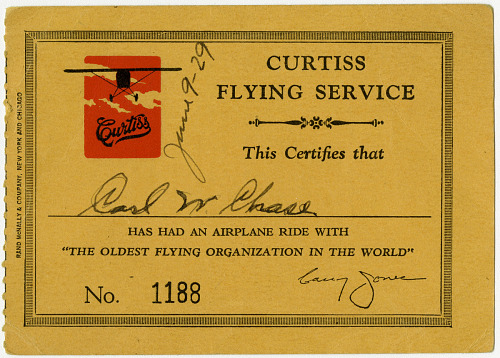 Curtiss Flying Service Ticket