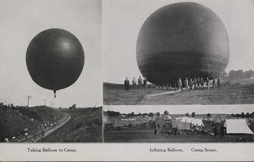 """Taking balloon to camp - Inflating balloon"""