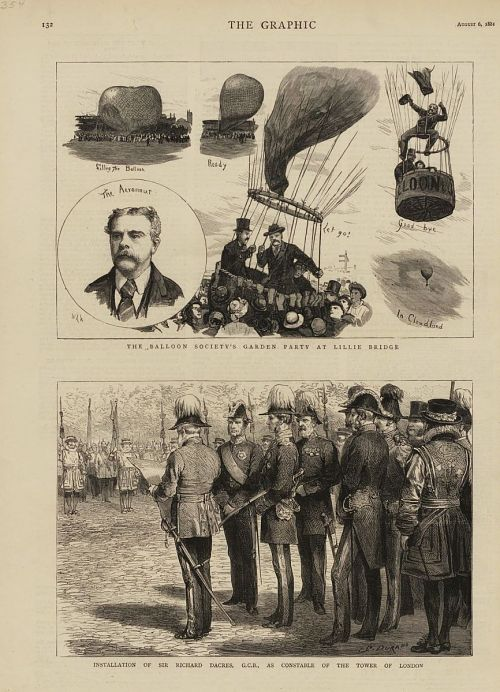 """The Balloon Society's Garden Party at Lillie Bridge."" With article"