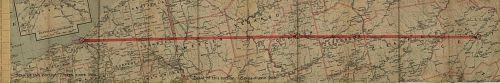 """Bellefont - Cleveland"" Strip Map"