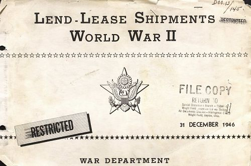 Lend-Lease Shipments World War II 1/2
