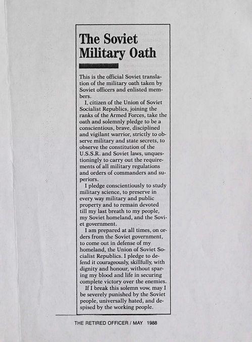 The Soviet Military Oath