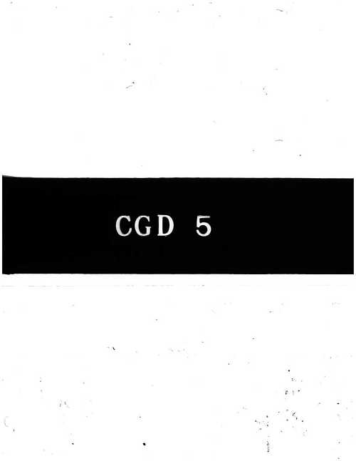 CGD-5 : Temporary Service Manual for the Jumo 004 B-1 and B-4